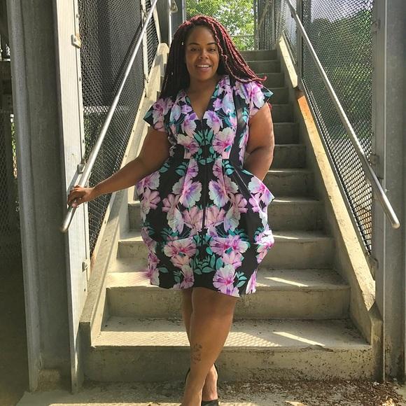 84403ee79af City Chic Dresses | Xl 22w Zip Front Tunic Dress Floral | Poshmark